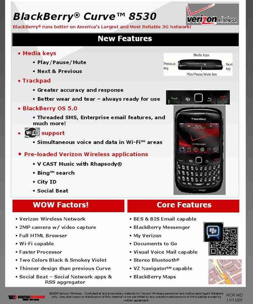Verizon BlackBerry Curve 8530