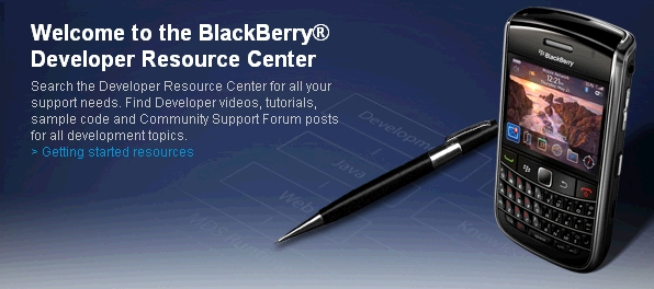 BlackBerry Developer Resource Center