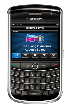 Sirius XM Radio For BlackBerry Launched