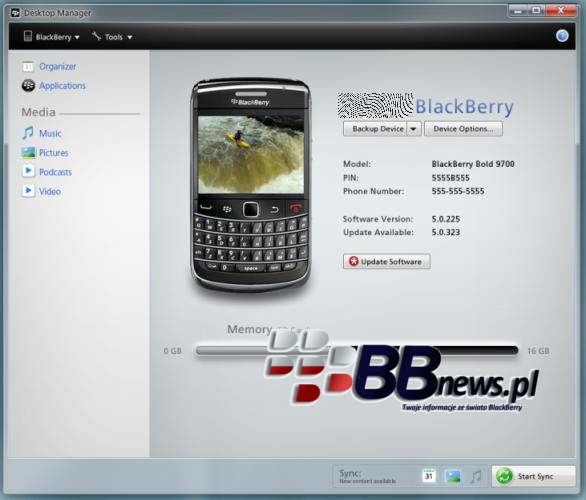 BlackBerry Desktop Manager 6.0 Pics Show Up Online