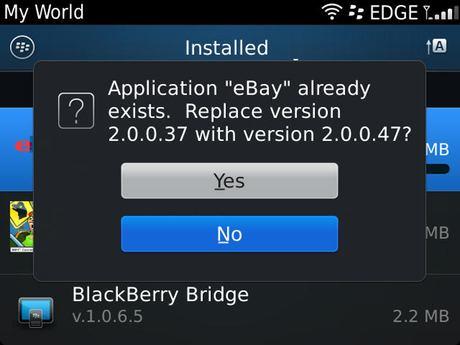 eBay App for BlackBerry smartphones v2 0 0 47 now available