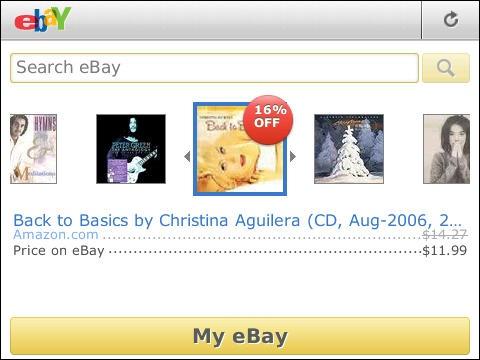eBay for BlackBerry updated - Now includes Deal Finder to provide you the best offers available