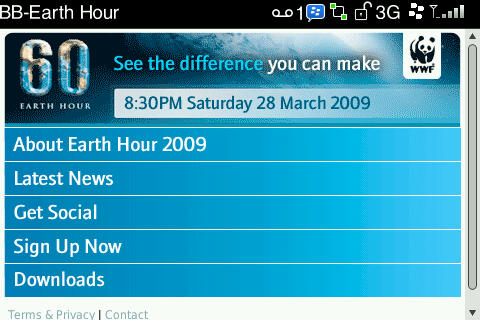 BlackBerry Earth Hour!