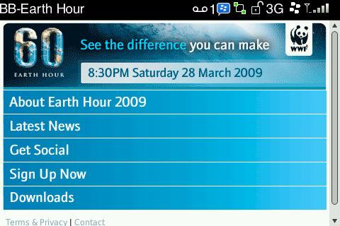 BlackBerry Earth Hour!