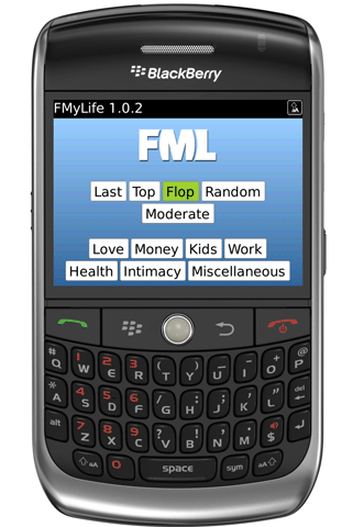 FML releases official BlackBerry application for free