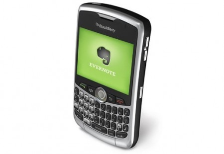 Evernote Now Available For The BlackBerry Curve 83XX Series