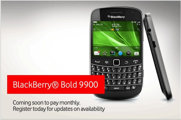 Vodafone UK BlackBerry Bold 9900