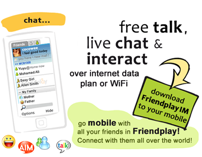 FriendPlayIM For BlackBerry Links Yahoo, MSN, Gtalk and AIM!
