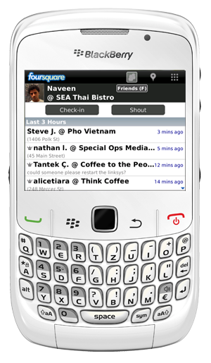 Foursquare For BlackBerry Updated To Version 1.7