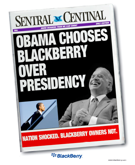 The Funny Side Of Obama's BlackBerry Predicament!