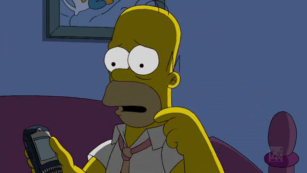 Homer Simpson's BlackBerry