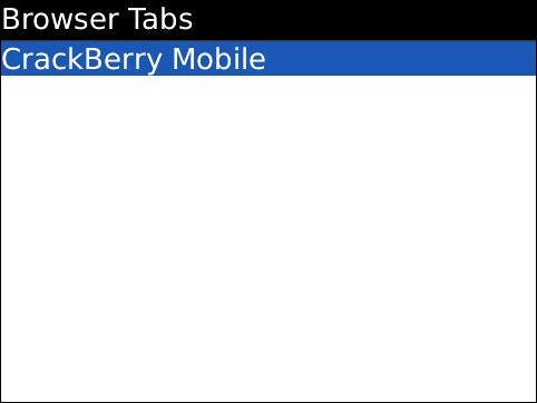 Two Tabs Showing In The BlackBerry Browser!