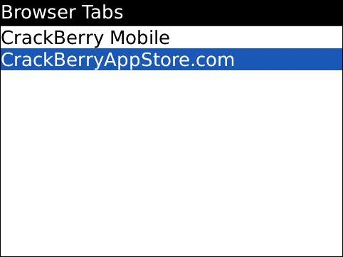 New Tab Now Opened In BlackBerry Browser!