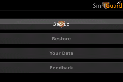 Options Screen For SmrtGuard!