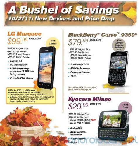 Sprint BlackBerry Curve 9350 arrives October 2