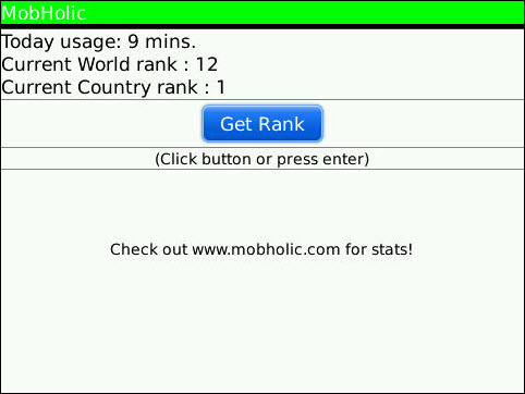 Mobholic Tracks Your BlackBerry Usage; Allows For Posting To Compete With Others