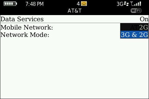 Network Selection Unlocked On AT&T Bolds!