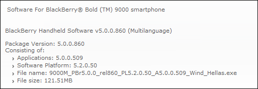 Official OS 5.0.0.509 For The Blackberry Curve 8900 And Bold 9000 From WIND Hellas