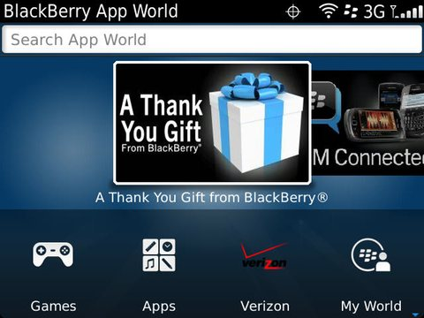 Verizon App Store showing up in BlackBerry App World