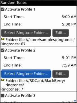Random Tones For BlackBerry Storm!