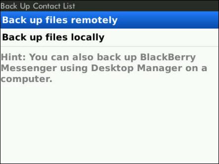 Remote Back Up