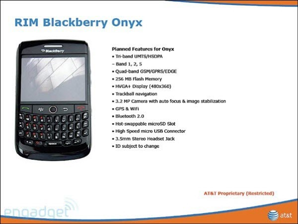 Blackberry Magnum, Onyx, Pearl 3G, and Gemini Headed To AT&T?