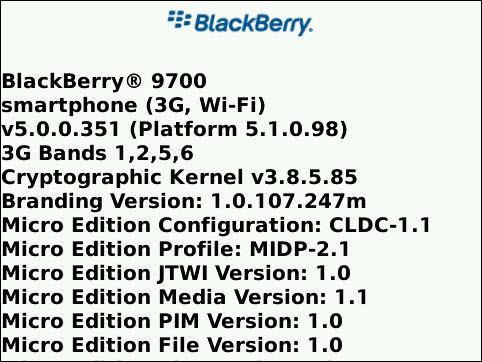 Rogers Officially Releases OS 5.0.0.351 For The BlackBerry Bold 9700