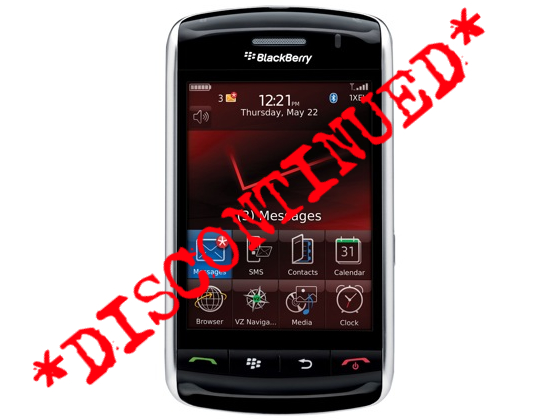 BlackBerry Storm Officially Discontinued?