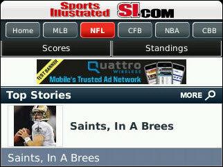 Sports Illustrated Now On Your BlackBerry!