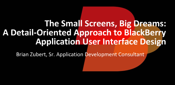 BlackBerry Application User Interface Design Webinar Replay Available