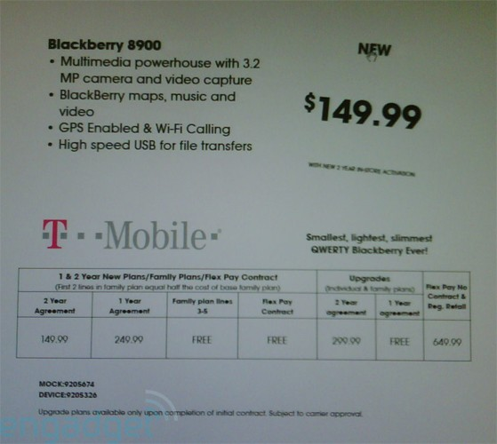 T-Mobile's BlackBerry Curve 8900 For $149.99!