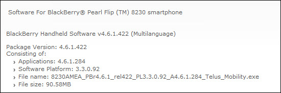 Telus Releases Official OS 4.6.1.284 For The 8230