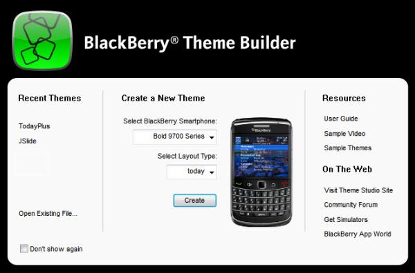 BlackBerry Theme Builder 5.0