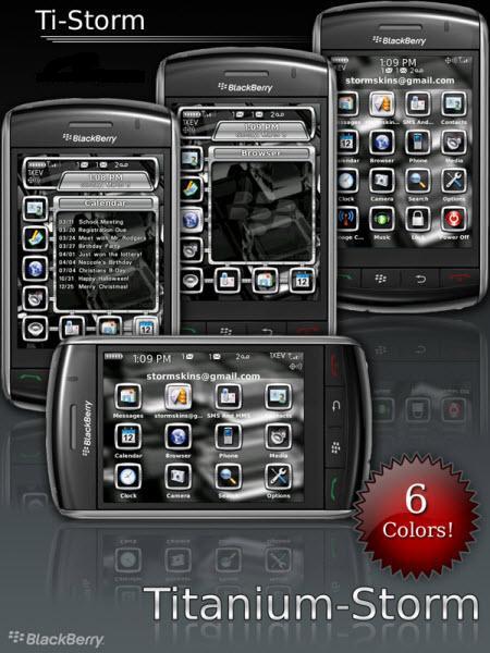 Free Titanium Series Theme For BlackBerry Storm!