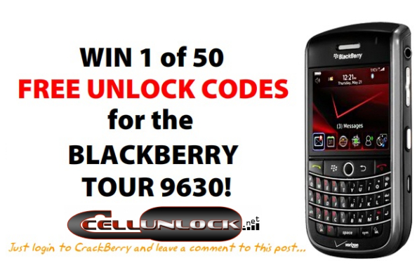 BlackBerry Tour Unlocks!