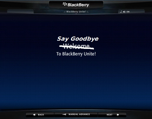 BlackBerry Unite No Longer Available!