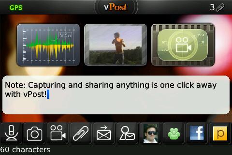 vPost For BlackBerry