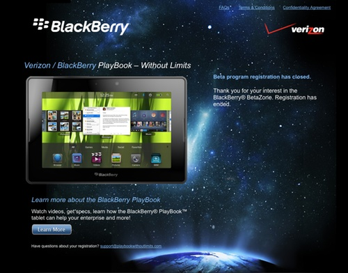 BlackBerry PlayBook headed to Verizon?!