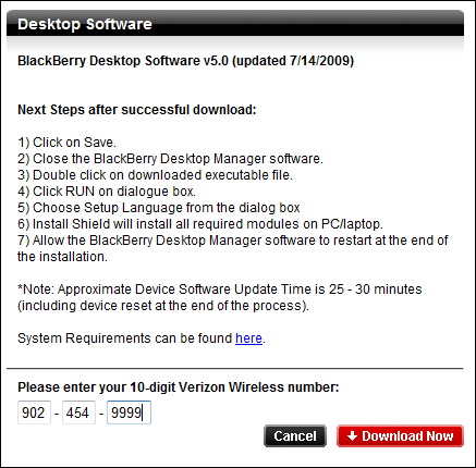 BlackBerry Desktop Manager Version 5.0.0.8 Now Available For Download