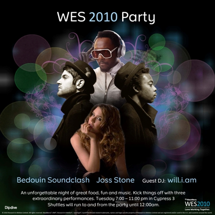 WES 2010 Party Entertainment Announced