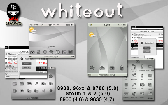 WhiteOut from Ninja Themes now on sale - Enter to win 1 of 35 free copies