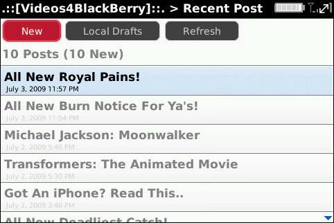 Wordpress On BlackBerry!