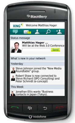 XING Launches Free Application for BlackBerry Smartphones