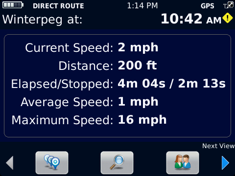 BlackBerry Traffic Motion Details
