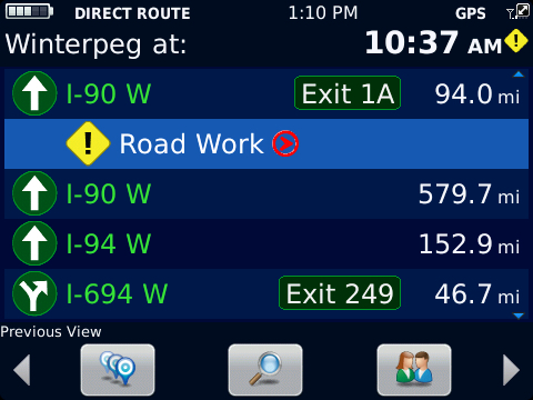 BlackBerry Traffic Roadwork