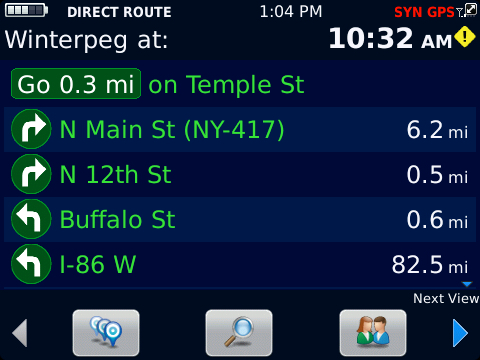 BlackBerry Traffic List Mode