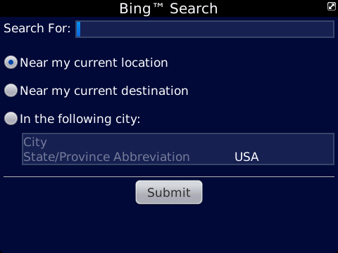 BlackBerry Traffic Search