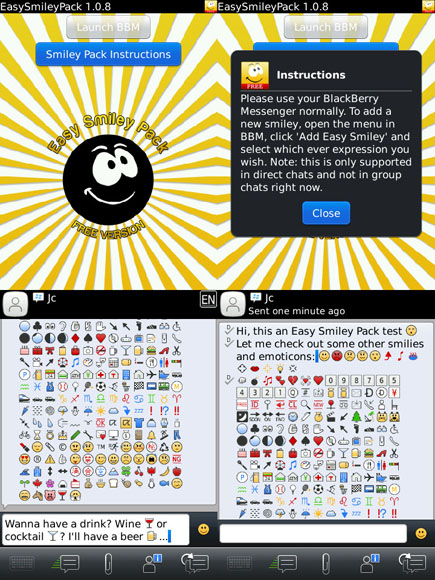 Easy Smiley Pack for BBM