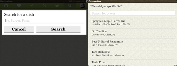 Foodspotting Search