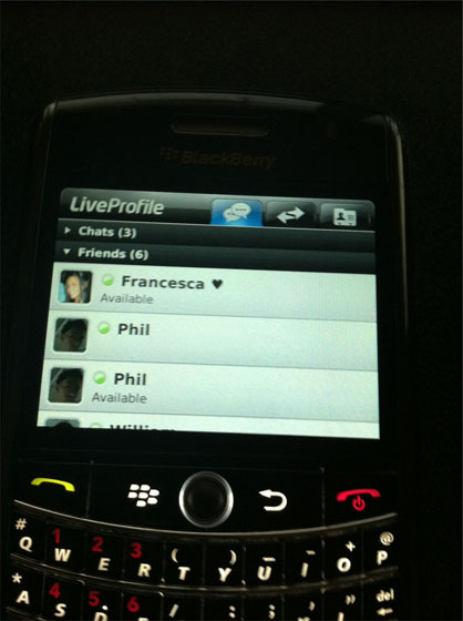LiveProfile for BlackBerry